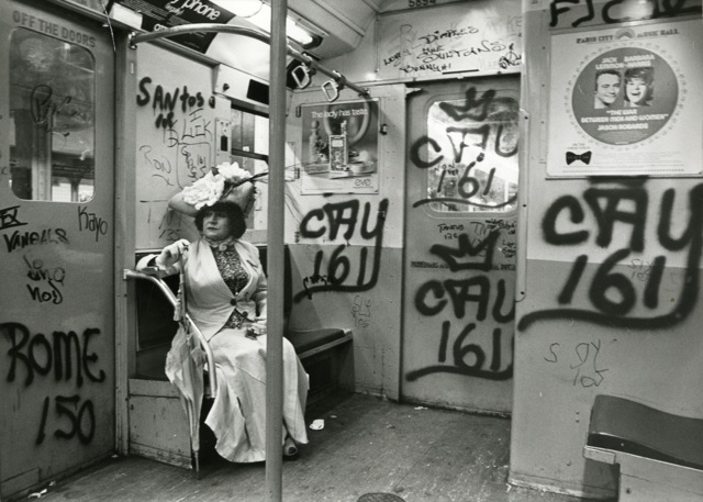 Editta Sherman on the Subway.