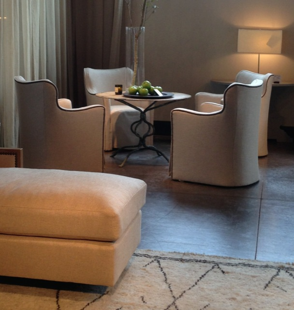 The Yin dining room chair by Barry Dixon at the Tomlinson/Erwin-Lambeth showroom.