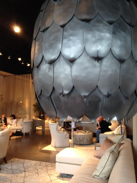 Barry Dixon's Magnolia Pod pendant debuted at High Point Market in spring 2014.