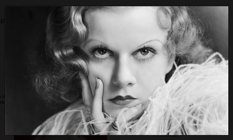 Blonde bombshell Jean Harlow on Saxon Henry