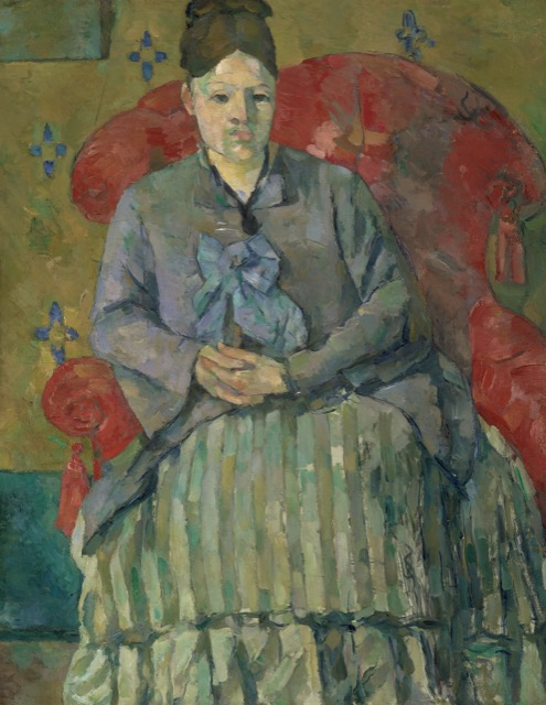 Paul Cezanne's wife, Hortense, in a 1877 portrait