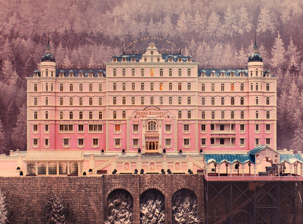 Grand Budapest Hotel architectural model and set