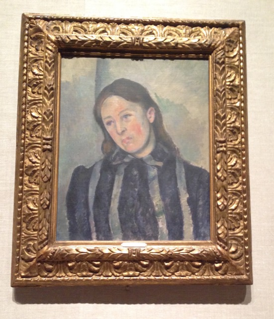 Portrait at the MET of Horense Cezanne painted by her husband Paul