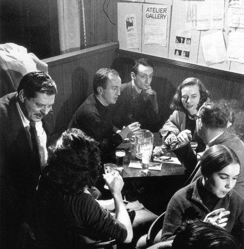 New York School poets at an NYC cafe