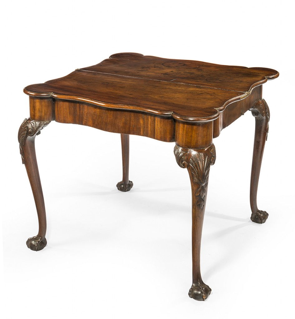 English George II table, circa 1730, at the Decorative Fair