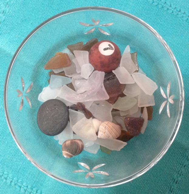 Beachcombing treasures from my strolls along my favorite beaches.