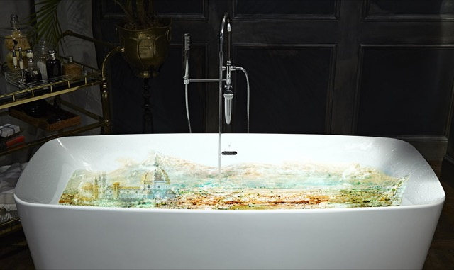Justin Shaulis' bathtub with a view in the 2015 DXV space