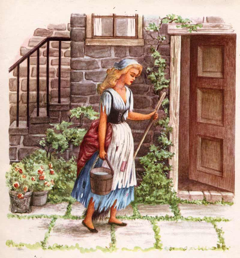 Image of Cinderella with her broom