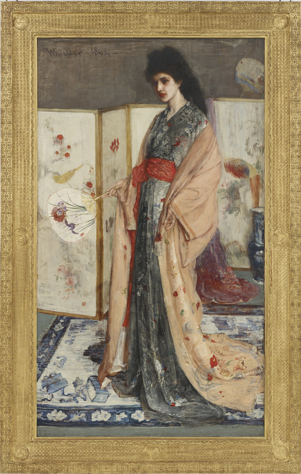 """La Princesse du pays de la porcelain"" (The Princess from the Land of Porcelain), by James Whistler."