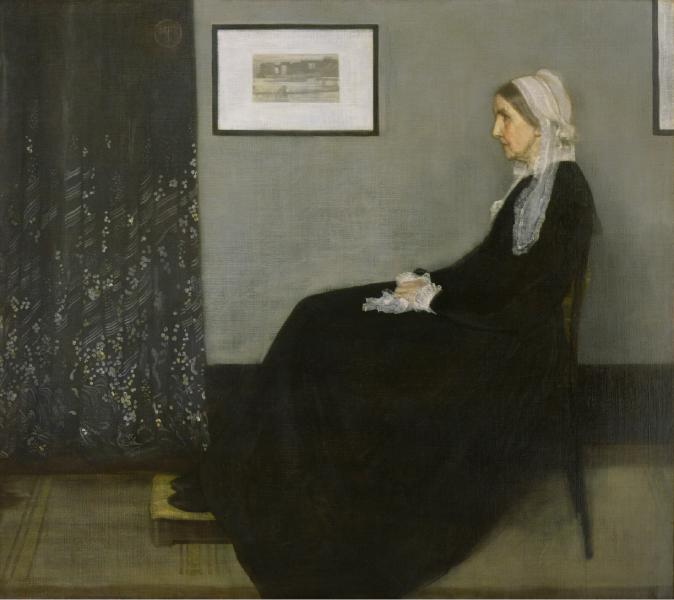 "James Whistler's ""Arrangement in Grey and Black No. 1 (Portrait of the Artist's Mother),"" better known as ""Whistler's Mother."""