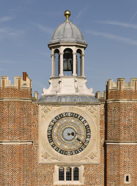 The Astronomical Clock that ornaments Anne Boleyn's Gateway