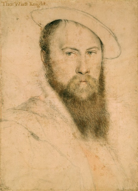 Drawing of Sir Thomas Wyatt by Hans Holbein the Younger