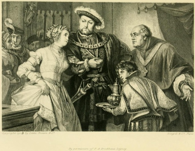 Pastimes of Henry VIII with Anne Boleyn; engraving by T. L. Raab