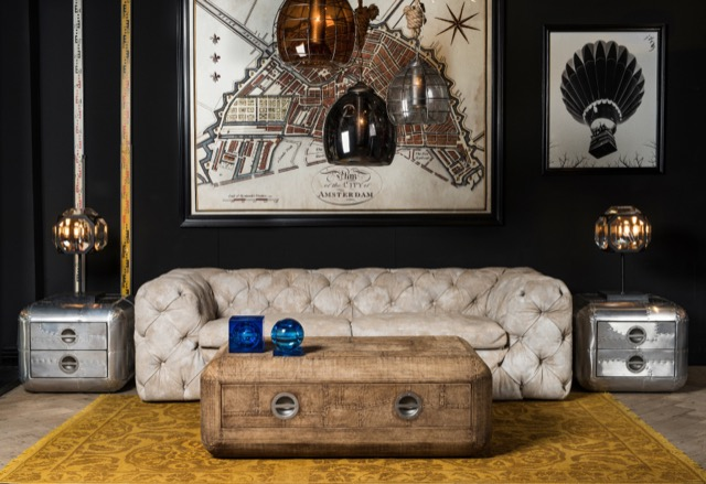 Adventurer Collection living room setting by Timothy Oulton