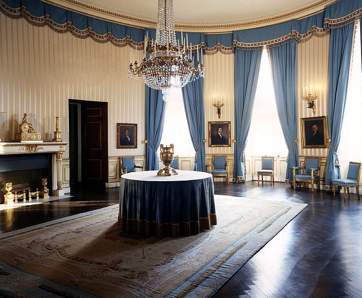 The Blue Room at the White House after Jacqueline Kennedy's restoration