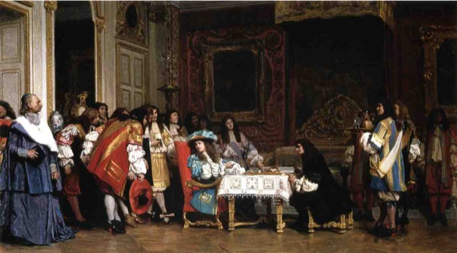 Jean Leon Gerome's painting Louis XIV and Moliere