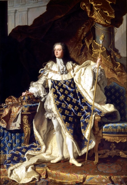 King Louis XV painted by Hyacinthe Rigaud