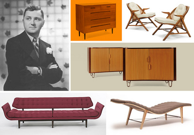 Edward Wormley and his modern design featured in Playboy in 1961