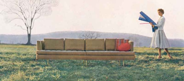 Dunbar's Nine Foot sofa featured in period style