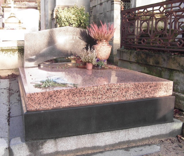 Colette is buried in the Père-Lachaise Cemetery in Paris