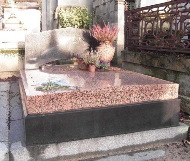 Colette is buried inthe Père-Lachaise Cemetery in Paris