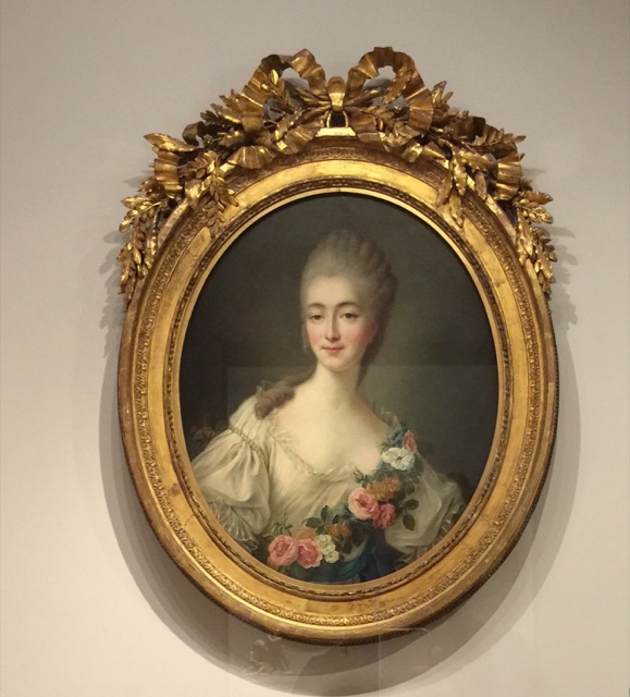 Madame du Barry posing coyly in a gallery at the NGA.