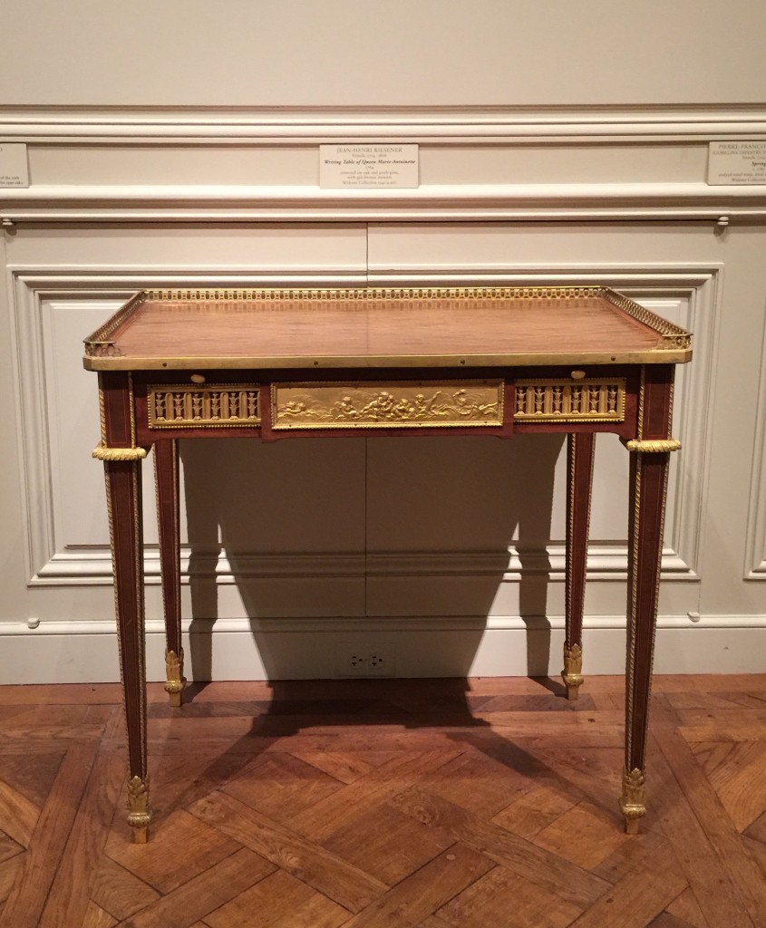 Marie Antoinette's writing table in the National Gallery of Art.