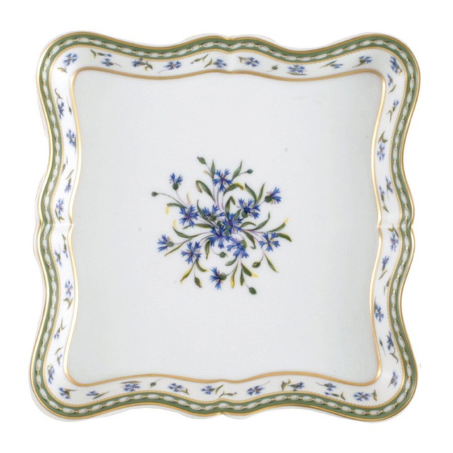 A square scalloped trap in Bernardaud's Marie Antoinette pattern