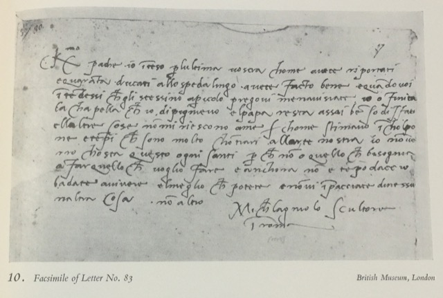 A Letter Michelangelo wrote to his father as he finished the Sistine Chapel Ceiling