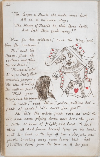 Lewis Carroll's original manuscript page Alice's Adventures Under Ground
