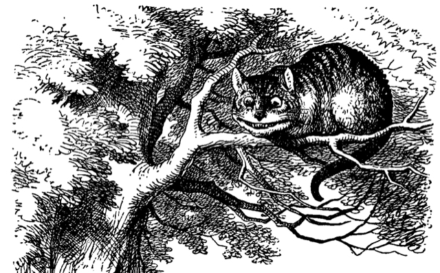 John Tenniel's wonderful illustration of Lewis Carroll's Cheshire Cat from Through the Looking Glass
