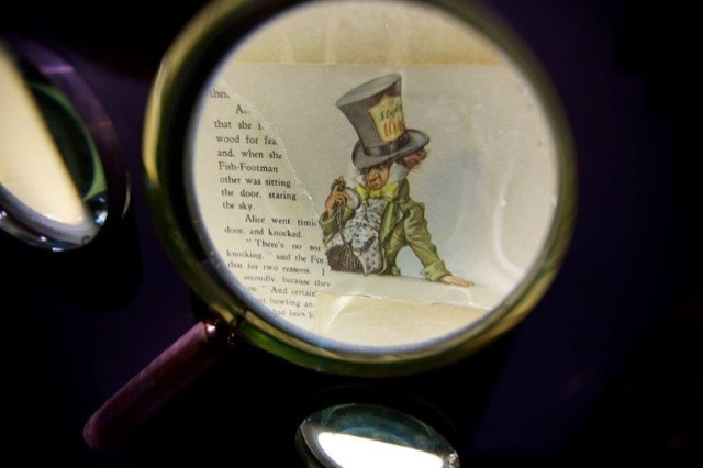 The Mad Hatter as seen through a magnifying glass
