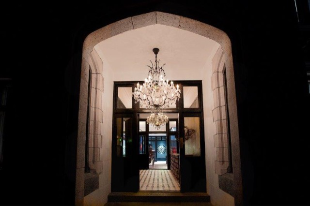 The entry to the Glazebrook House Hotel in Devon