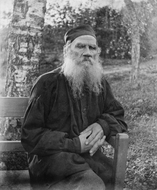 "Leo Tolstoy the year he completed the book ""What is Art?"""