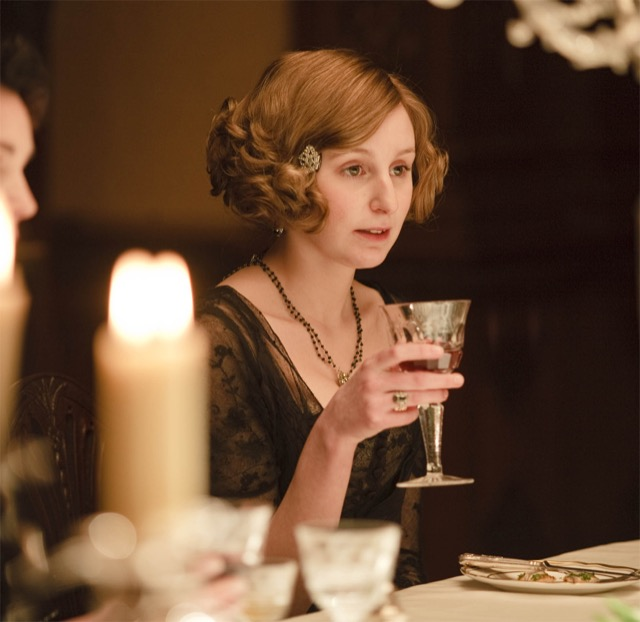 Lady Edith toasts the future
