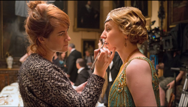 Makeup time for Lady Edith Crawley