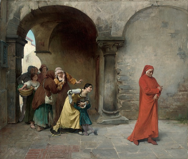 "Antonio Cotti paints ""Dante in Verona"""