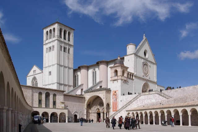 The Basilica of St. Francis entry to lower church