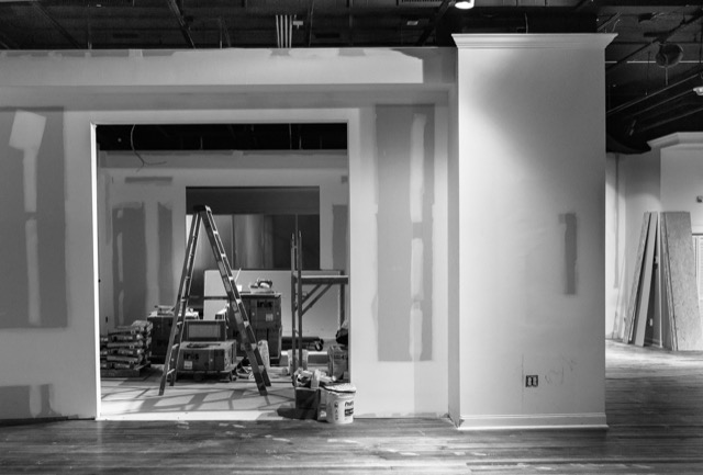 Construction on Currey and Company HP showroom