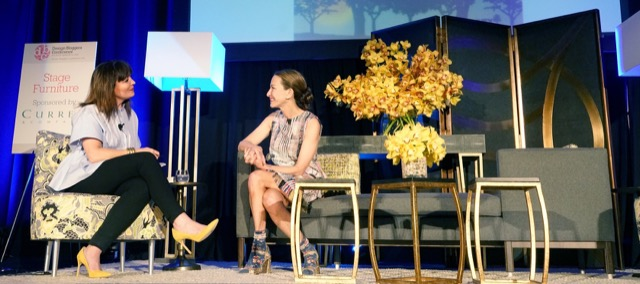 Cynthia Rowley interviewed by Anna Brockway of Chairish during the Design Bloggers Conference