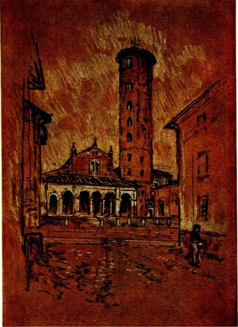 Joseph Pennell illustration of Perugia for Italian Hours