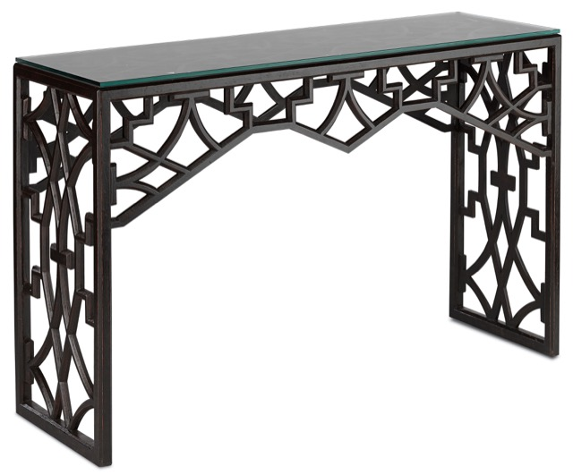 Nador console table by Currey and Company