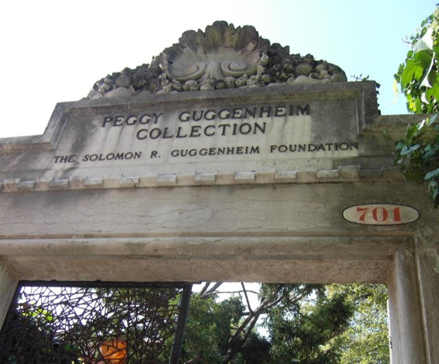 The gate to the Peggy Guggenheim Collection in Venice