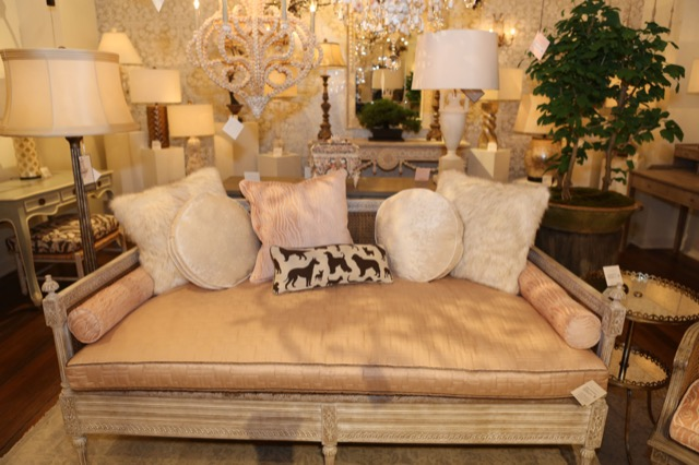 A lovely vignette at the Currey and Company showroom