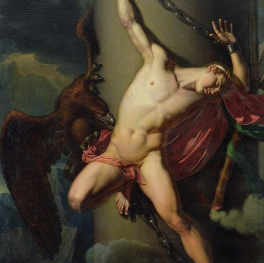 "Detail of ""The Torture of Prometheus"" by Jean Louis César Lair, mythic tales"