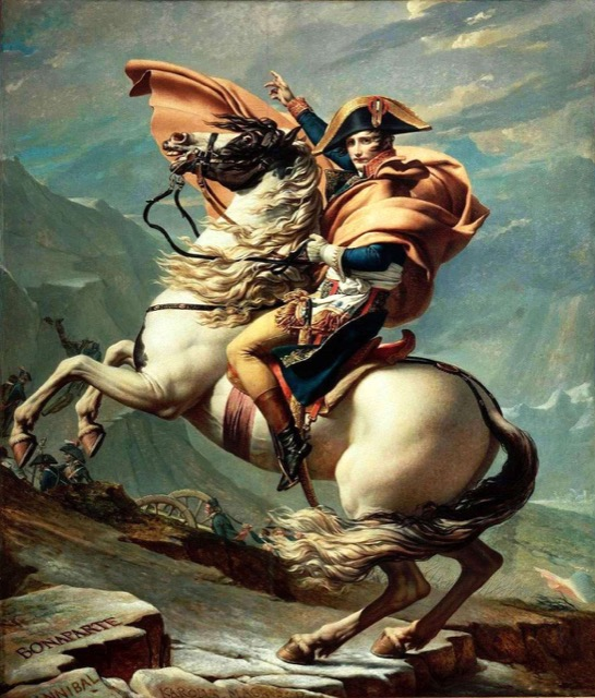 Painting Napoleon Crossing the Alps