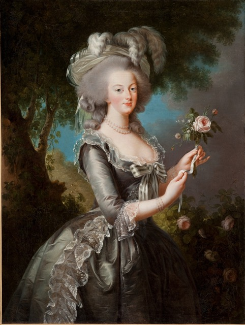 Vigée Le Brun_Marie Antoinette with a Rose painting