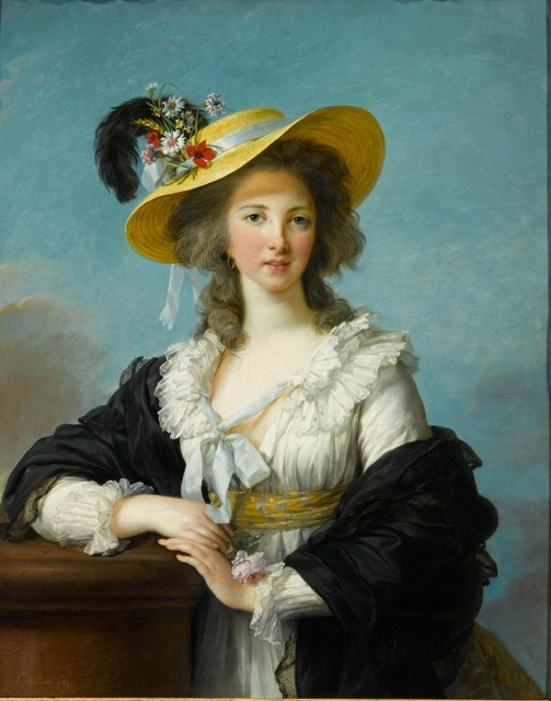 Vigée Le Brun_The Duchesse de Polignac in a Straw Hat painting