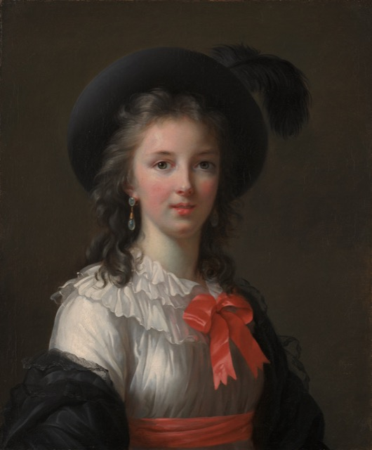Vigee Le Brun Self Portrait Cerise Ribbons