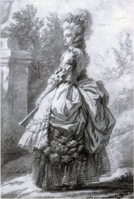 Chalk Drawing Marie Antoinette